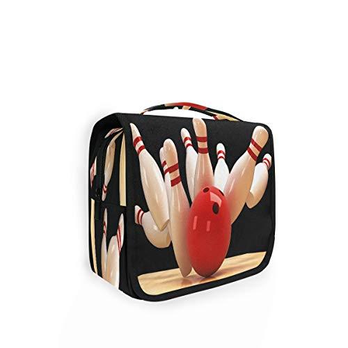 RXYY Hängend Kulturtasche Sport Bowling Ball ausklappbar Bad Turnhalle Kulturbeutel Veranstalter tragbar kosmetisch Waschtasche für Frauen Mädchen