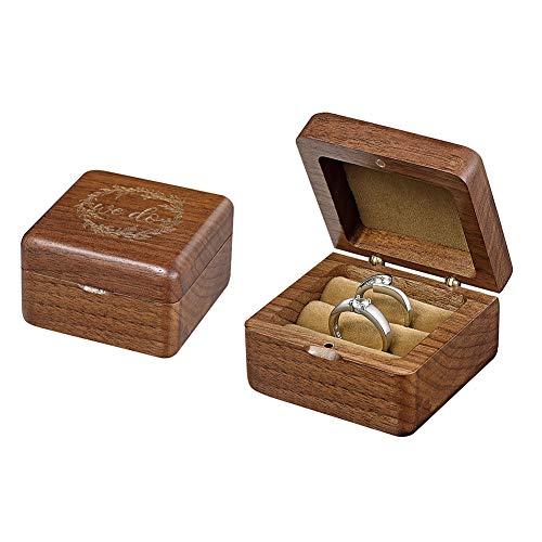 HESHIFENG. party & accessories Hochzeit Ringkissen,Ehering-Kissen für Ringträger (Holz Ringbox)