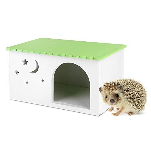Igel Kasten Holz Plastikbrett Hamster Haus ökologische Simulations Kasten Haustier Käfiggrün Kabine mit Fenster