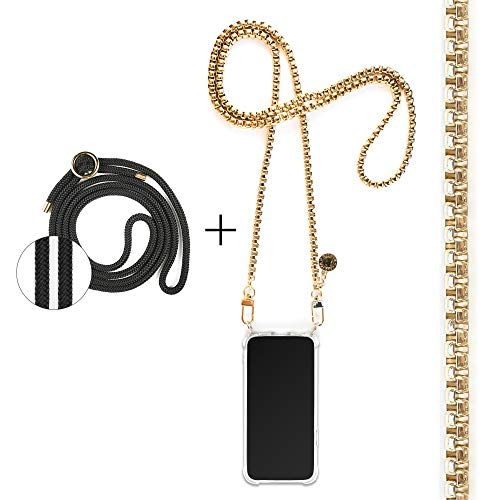 Jalouza telefoon Strap compatibel met Samsung Galaxy Note 10 - Crossbody telefoonhoesje - Inclusief Venetiaanse Ketting in goudkleur, koord, telefoonhoesje - Elegant en praktisch – verstelbaar in lengte