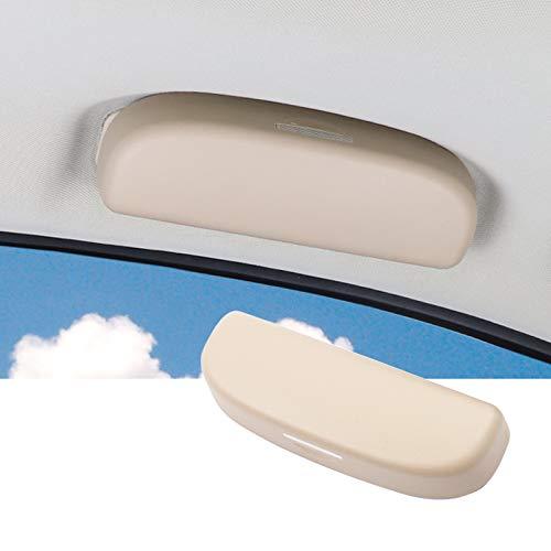 SHAOHAO Custodia per Occhiali Porta Occhiali da Sole per Toyota RAV4 Corolla E210 Porta Occhiali Interno (Beige)