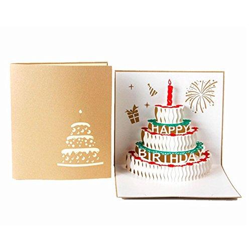 YHLVE Auguri di Compleanno per lei, Compleanno, Anniversario di Matrimonio di Natale/Fatto a Mano Cartolina di Ringraziamento per Bambini