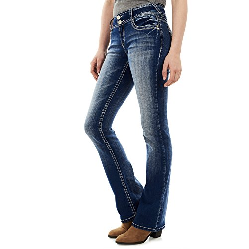 WallFlower Women's Instastretch Luscious Curvy Bootcut Jeans, Jenna, 13
