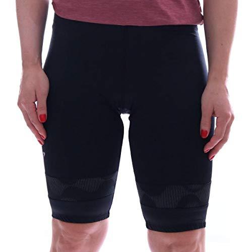 Bermuda Ciclismo Feminina acolchoada Uv50 D80 anatômica Tamanho:M;Cor:Preto