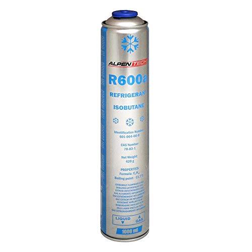 Kältemittel R600a Isobutan 420g 1000ml Gaskartusche Druckgasdose Einwegdose für Klimaanlage Kühlschrank 1 Kartusche