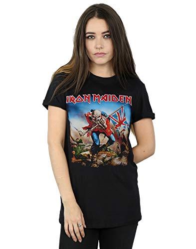 Absolute Cult Iron Maiden Mujer The Trooper Camiseta del Novio Fit Negro XXX-Large