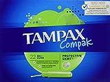 Tampax Compak - Tampons avec Applicateur en Plastique x 22 - Super