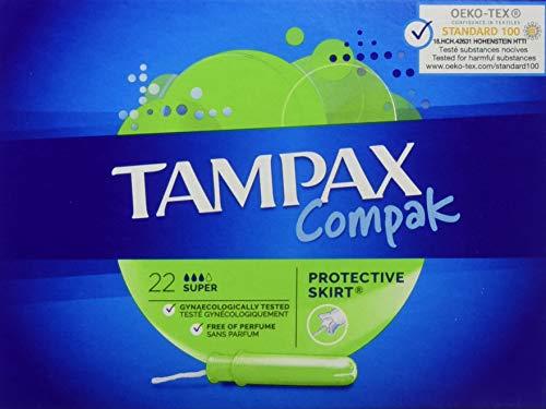 Tampax Compak – Sellos con aplicador de plástico x 22 – Super