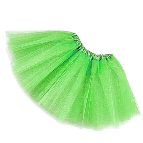 MUNDDY - Tutu Elastico Tul 3 Capas 30 CM de Longitud para niña Bebe Distintas Colores Falda Disfraz Ballet (Envio 48-72h con Seguimiento Desde Madrid)