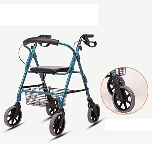 N/ A Gehhilfe Transport Rollator Walker Wheel mit Sitz, hochklappbare abnehmbare Rückenstütze für ältere Menschen mit eingeschränkter Mobilität, Gehhilfen für ältere Menschen