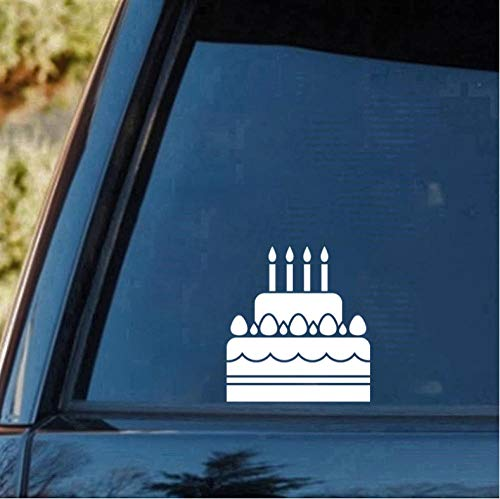 5 Stücke Auto Aufkleber 15 cm * 14 cm Geburtstagstorte Aufkleber Aufkleber Vordere Aufkleber Körper Aufkleber Heckscheibe Aufkleber Silber