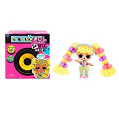 15 SURPRISES! L.O.L. Surprise! Remix Hair Flip tots have 15 surprises to unbox, including a Hair Flip surprise, music and song lyrics. HAIR FLIP SURPRISE: Unbox each doll's hair from its fierce style for a Hair Flip surprise! Will you reveal a surpri...