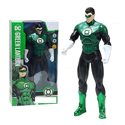 HAGENGOO Justice League Flash Superman Green Lantern Batman Anime Hero Muñeca Figura de Juguete