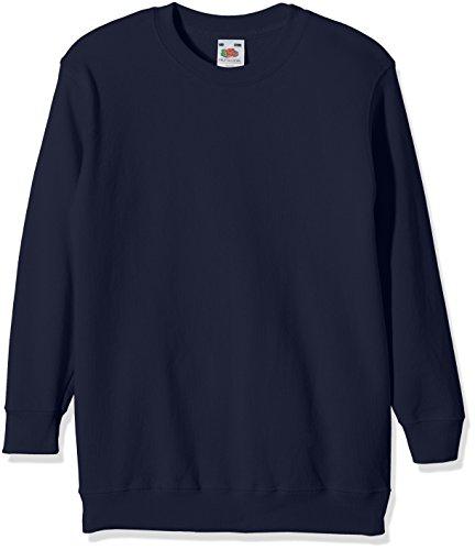 Fruit of the Loom Jungen Regular Fit Sweatshirt, Blau (Navy 32), Gr. 140 CM (Herstellergröße: 9/11 Jahre )