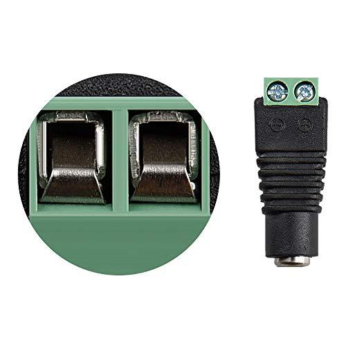 UltraBright 10 x (2,1mm x 5,5mm) 12V 24V DC Strom Buchse Stecker Hohlstecker Adapter Konverter mit Schraubklemme für SMD LED Beleuchtung Stripe Streifen und CCTV