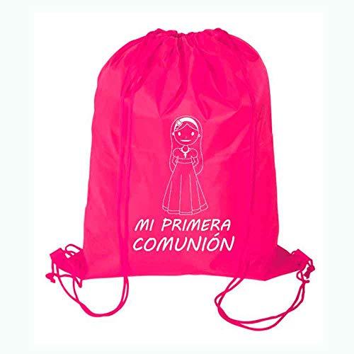 Bolsa con Cuerdas Mochila niña Primera Comunión. Lote de 10 Unidades. Regalo para Las niñas para Comuniones.