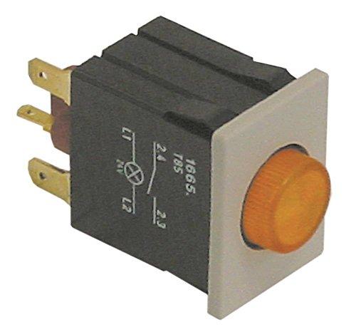 Palux Drucktaster für Spülmaschine 440078, 440086, 440094, 361763, 378933 gelb 250V 1NO 1-polig Anschluss Flachstecker 4,8/2,8mm