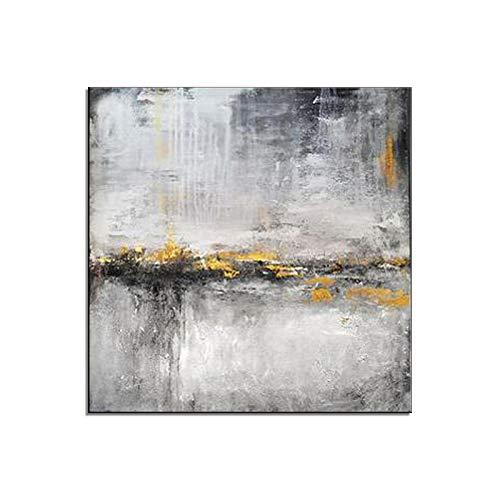 """HIMAmonkey 100% Pintura Al óLeo Pintado A Mano Cuadros Abstractos Modernos Arte de Pared sobre Lienzo Estirada y Enmarcado decoración Listo para Colgar,32""""*32""""(80 * 80cm)"""