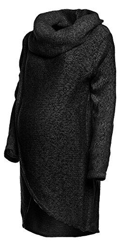 - Pull-over d'allaitement tricoté - Par Happy Mama - - Gris - Medium