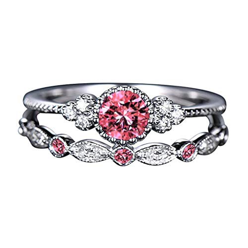 Rings for WomenWomen's Fashion Diamond Ring Couple Jewelry 2 Piece Set Size 5-10Jewelry & Watches Christmas for Faclot