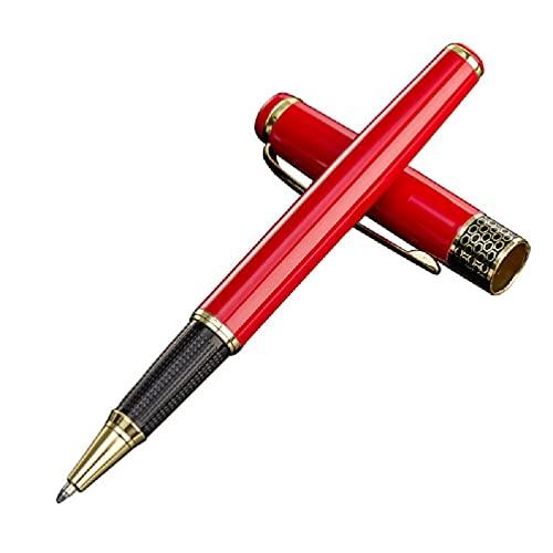Pluma de lujo de metal Rollerball Signature para la escritura de negocios caligrafía escuela Metal Rollerball bolígrafos punta media