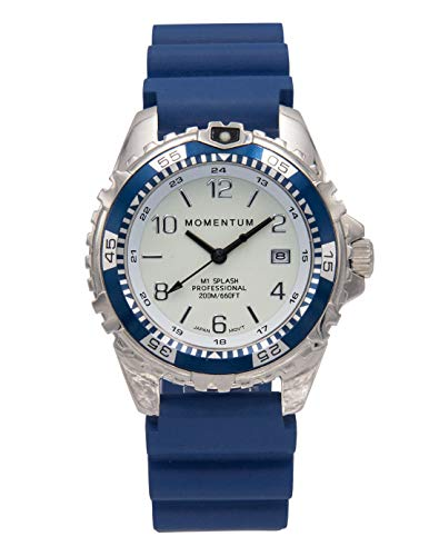 Momentum Watches Splash Saphir Moderne Taucheruhr von Momentum Watches, Marineblau, 1 M-DN11LSU1U, 200 m, wasserabweisend, 5 Jahre Akku-Laufzeit, beleuchtetes Zifferblatt, Taucheruhr