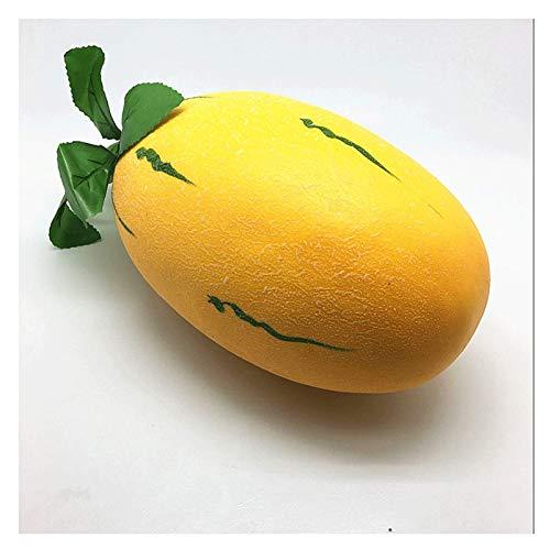 Barm Frutta Artificiale 9.8'Simulazione Artificiale Realistico Finto Melone Set Frutta e Foglie finte per la casa casa Cucina Decorazione della Festa Nuziale Fotografia Puntelli Accessori per la