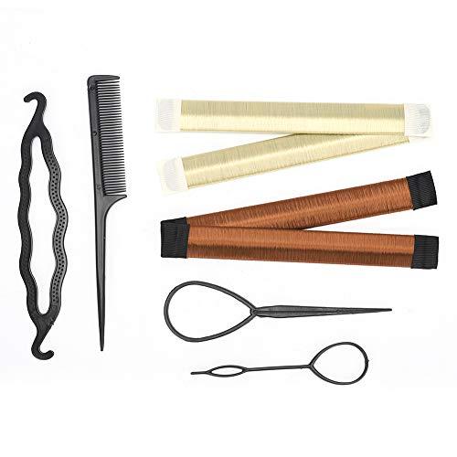 Ensemble de tresses de cheveux bricolage - Vobor 6pcs Accessoires de modélisation de coiffure - Ensemble d'outils de coiffure(6 pcs)