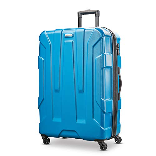 Samsonite Centric Hardside Expandable Luggage with Spinner Wheels, Caribbean Blue, Checked-Large 28-Inch