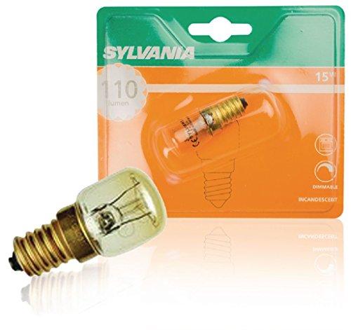 Sylvania SYL0036602 Ampoule four 15 watts E 14 sous blister, Aluminium, Blanc