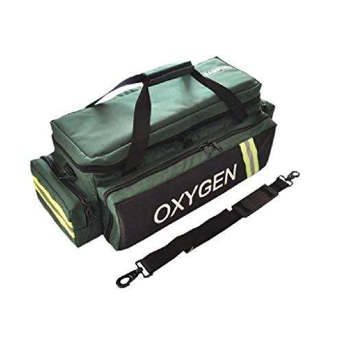 LINE2design EMS Oxygen Bag - Standard Medical Bag Adjustable Divider with Shoulder Strap - Green