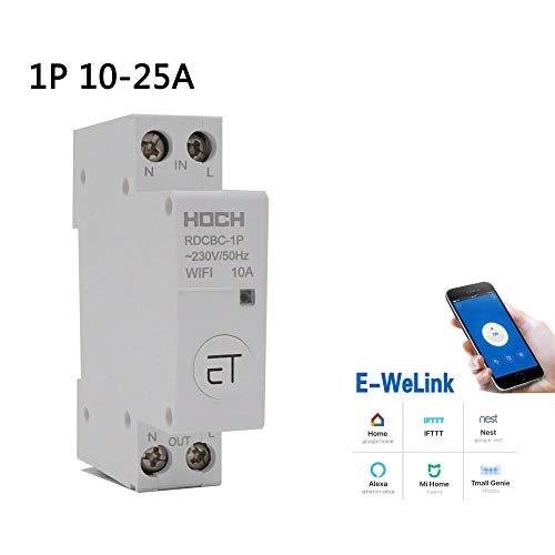 1P WIFI interruptor de circuito de control remoto eWeLink temporizador inteligente inteligente interruptor de retención magnética-1P_16A