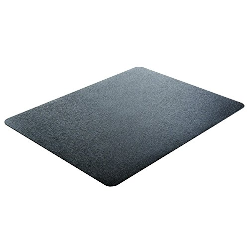 Deflecto EconoMat Black Chair Mat, Hard Floor Use, Rectangle, Straight Edge, 36 x 48 Inches (CM21142BLK)