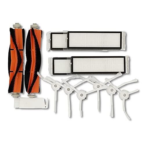 Polj - Accessoires de rechange compatibles pour Xiaomi Mi Roborock S50 S51 Roborock 2 aspirateur robot kit 6 + 2 brosses 4 filtres.