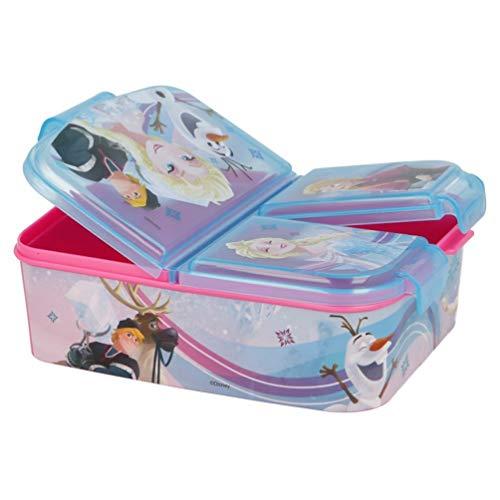 Frozen - Die Eiskönigin Anna und Elsa Kinder Premium Brotdose Lunchbox Frühstücks-Box Vesper-Dose mit 3 Fächern