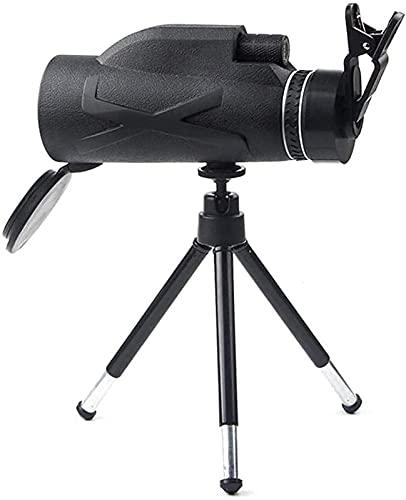 BVYHGCVBW Telescopio Telescopio de Alta Potencia, Mini Monocular HD 80X100 Zoom Soporte Monocular de Mano Teléfono móvil Tomar Fotos, Prisma portátil BAK4 Optical wi
