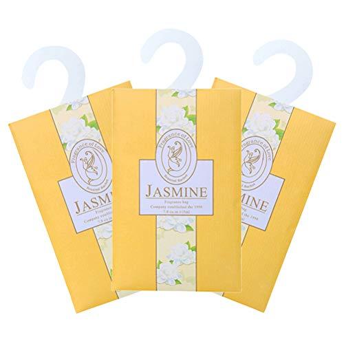 LIOOBO 6er Duftsäckchen Tasche für Schubladen Schränke und Autos Duftsäcke - Jasmin