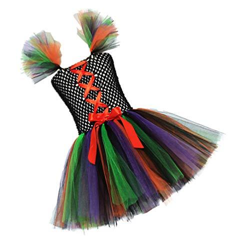 KESYOO Disfraces de Brujas de Halloween para Niñas Disfraces de Cosplay sin Mangas Disfraces Disfraz de Bruja Quee Mística para Bebés Niños Talla S