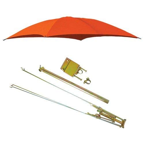 All States Ag Parts Parts A.S.A.P. ROPS Tractor Umbrella with Frame & Mounting Bracket 54' 10 oz. Duck Canvas - Orange