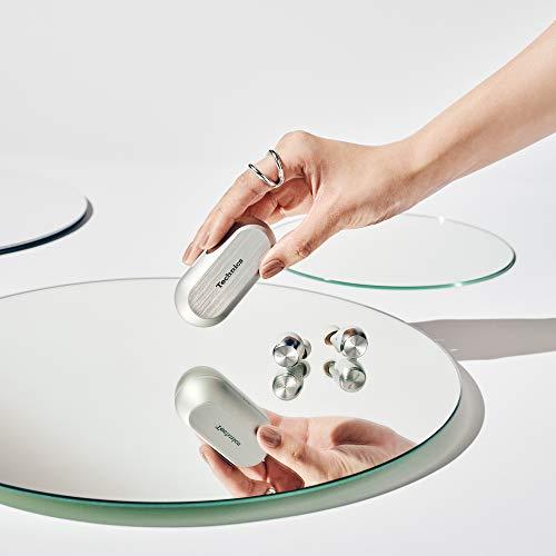 Technics EAH-AZ70WE-S - Auriculares True Wireless Noise-Cancelling control táctil(Bluetooth independiente, estuche de carga, resistente a sudor y agua, batería larga duración, asistentes de voz) plata