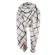 Century Star Thick Tartan Scarf Oversized Blanket Soft Warm Shawl Classic Plaid For Women