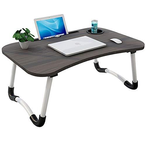 DYCDQMJC Mesa de cama plegable para ordenador portátil, mesa de escritorio de ordenador que se puede utilizar mientras está sentado en la cama