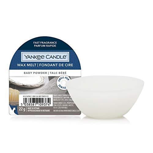 Yankee Candle - Cera profumata Wax Melts | Baby Powder | Fino a 8 ore di profumo | 1 pezzo