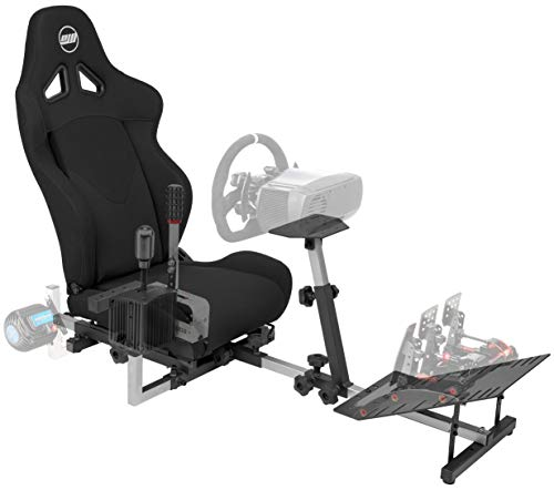 Openwheeler GEN2 Racing Wheel Stand Cockpit Black on Black | Fits All Logitech G29 | G920 | All Thrustmaster | All Fanatec Wheels | Compatible with Xbox One, PlayStation, PC Platforms