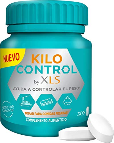 XLS Medical Kilo Control - Ayuda A Controlar El Peso En Comidas Pesadas - Envase Discreto Y Práctico - Contiene (15 Comidas), Blanco, 30 Comprimidos