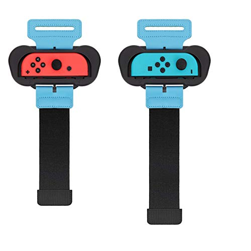 TiMOVO Kompatibel mit Just Dance 2021 2020 2019 Armband Gurte Wrist Band Nintendo Switch Zumba Burn It Up, 2 Stücke Erwachsener Kind Verstellbar Elastisch Handgelenkband für Joy Con Controller