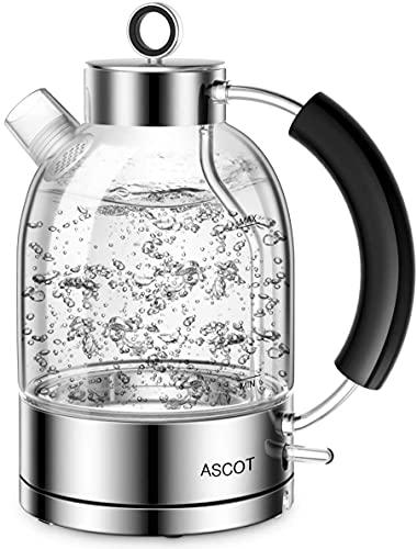 ASCOT Stainless Steel Filter Kettles Tea Heater & Hot Water Boiler, 1.6L, 2200W,...