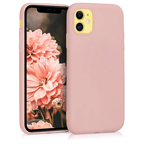 kwmobile Cover Compatibile con Apple iPhone 11 - Custodia in Silicone TPU - Backcover Protezione Posteriore- Oro Rosa Matt