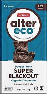 ALTER ECO Deepest Dark Super Blackout Organic Chocolate Bar, 75g