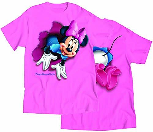 Disney Minnie Mouse 'Pop Out de parte delantera y trasera para mujer camiseta Top–Rosa